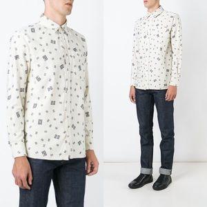 Maison Kitsuné Bar Print Shirt